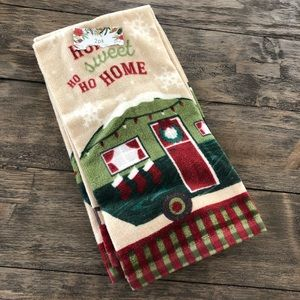 Home Sweet Home Kitchen Towels RV Camper Christmas